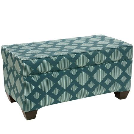 Peachy Skyline Furniture Storage Bench In Line Lattice Teal Spiritservingveterans Wood Chair Design Ideas Spiritservingveteransorg