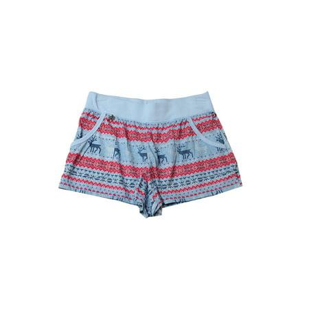 Jane And Bleecker Blue Knit Printed Shorts (Jane Knit)