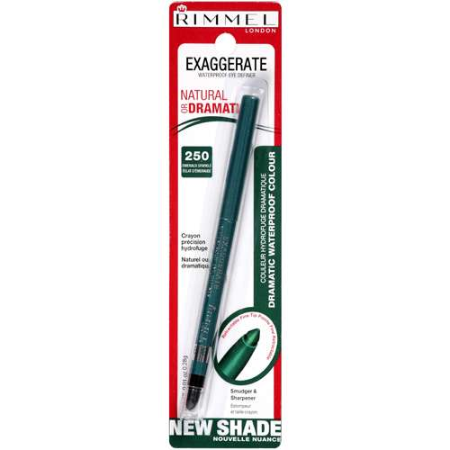 Rimmel London Exaggerate Eye Liner, Emerald 250