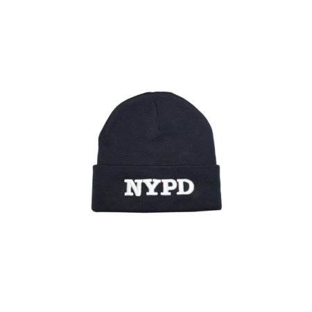 Nypd Winter Hat New York Police Department Navy White One Size ()