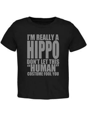 Halloween Human Hippo Costume Toddler T Shirt