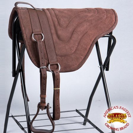 HILASON WESTERN PLEASURE TRAIL RIDING BAREBACK SADDLE PAD TREELESS