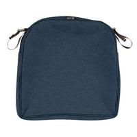 "Classic Accessories 20""x20""x2"" Blue Patio Cushion Slipcover, Montlake"