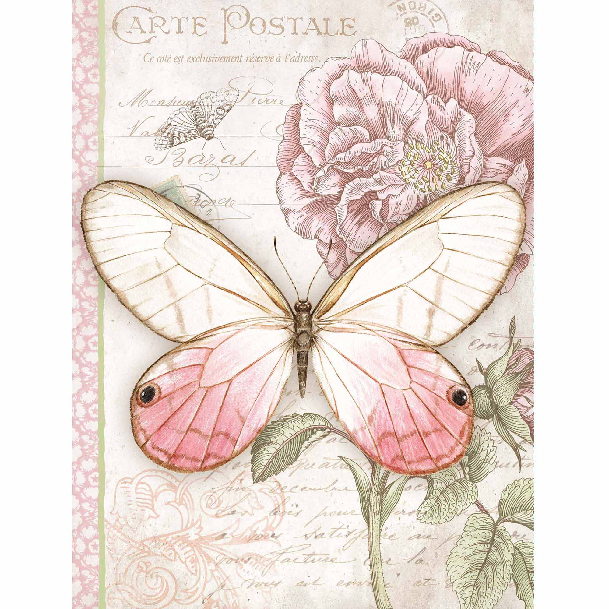 Pink Butterfly Address Book