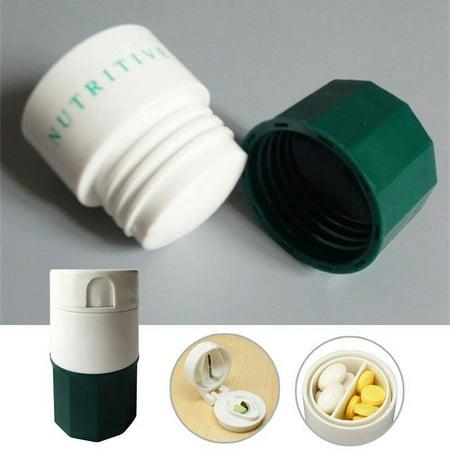 KABOER Grinder Pulverizer Tablet Cutter Medicine Pill Splitter Box Case Crusher Tool