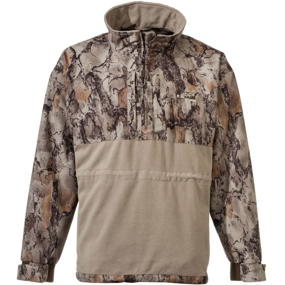 Natural Gear Hybrid Fleece 1/4 Zip Jacket (XL)- Nat. Camo