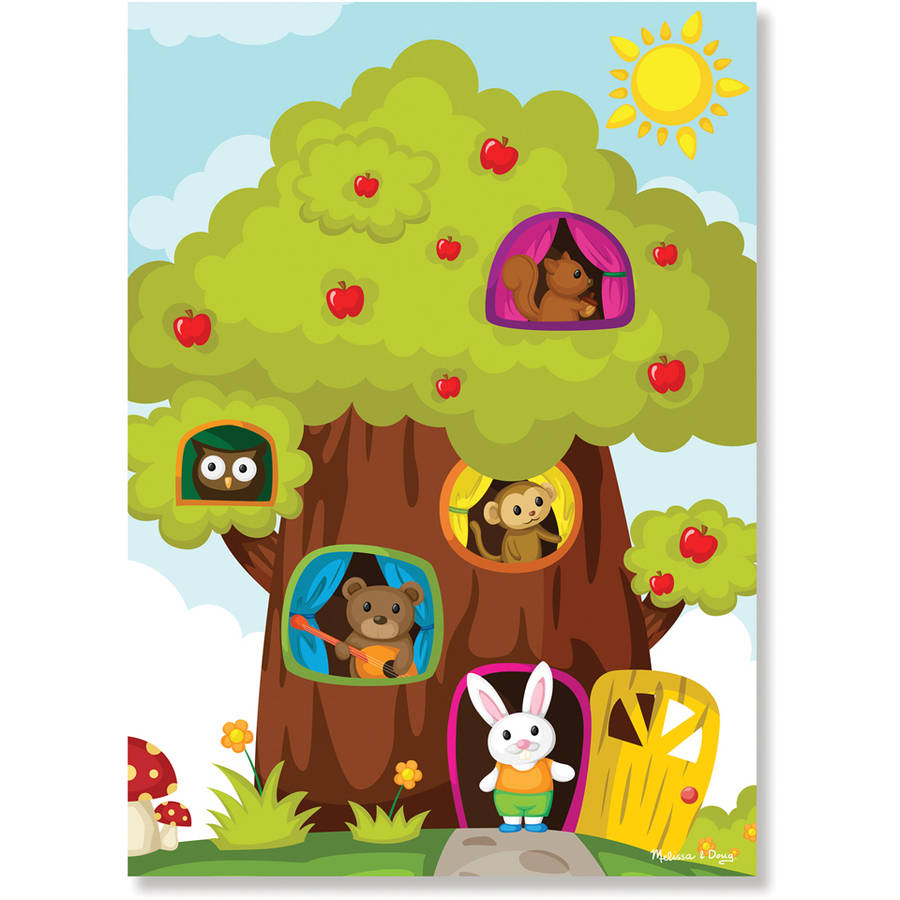 Melissa & Doug 0030pc Treehouse Friends Cardboard Jigsaw