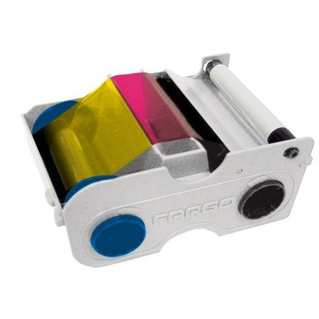 FARGO 44230 YMCKO CARTRIDGE WITH FULL COLOR RIBBON DTC400 AND DTC400E PRINTERS -