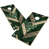 Milwaukee Bucks 2' x 4' Herringbone Design Cornhole Set
