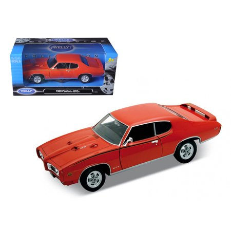 1969 Pontiac Gto Judge Orange 1 24 Diecast Model By Welly