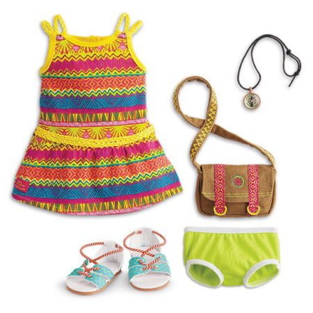 American Girl Lea's Tropical Adventure Outfit Complete (Doll Not Included)](Tropical Lei)