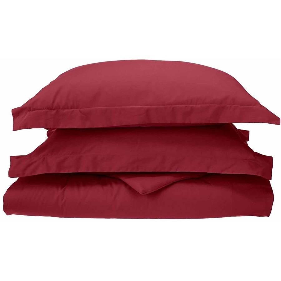Superior Percale Cotton 300 Thread Count Solid Duvet Cover Set