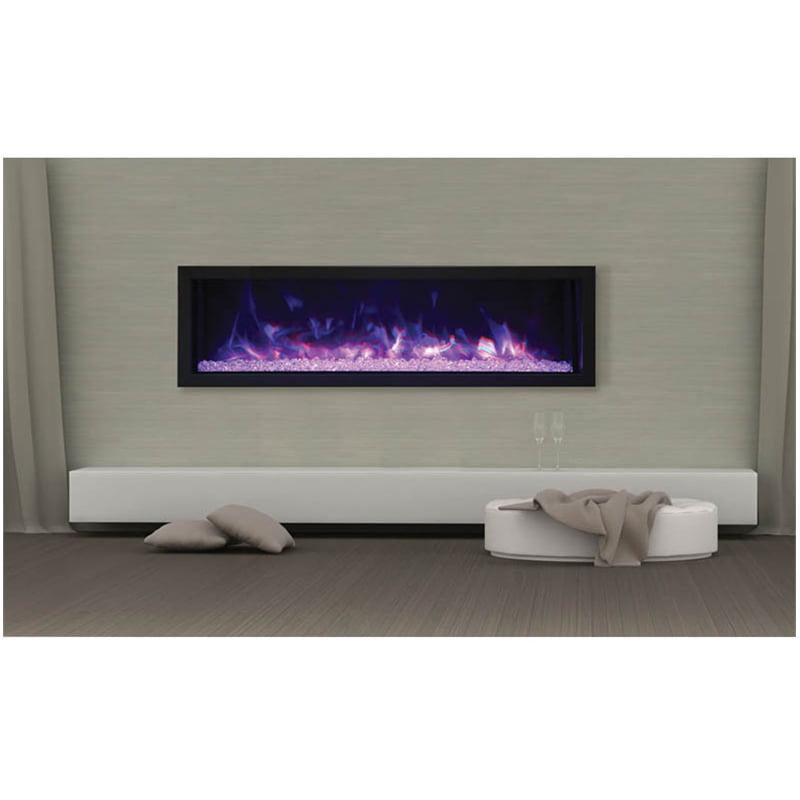 """Maklaine 55"""" Extra Slim Indoor / Outdoor Electric Fireplace"""