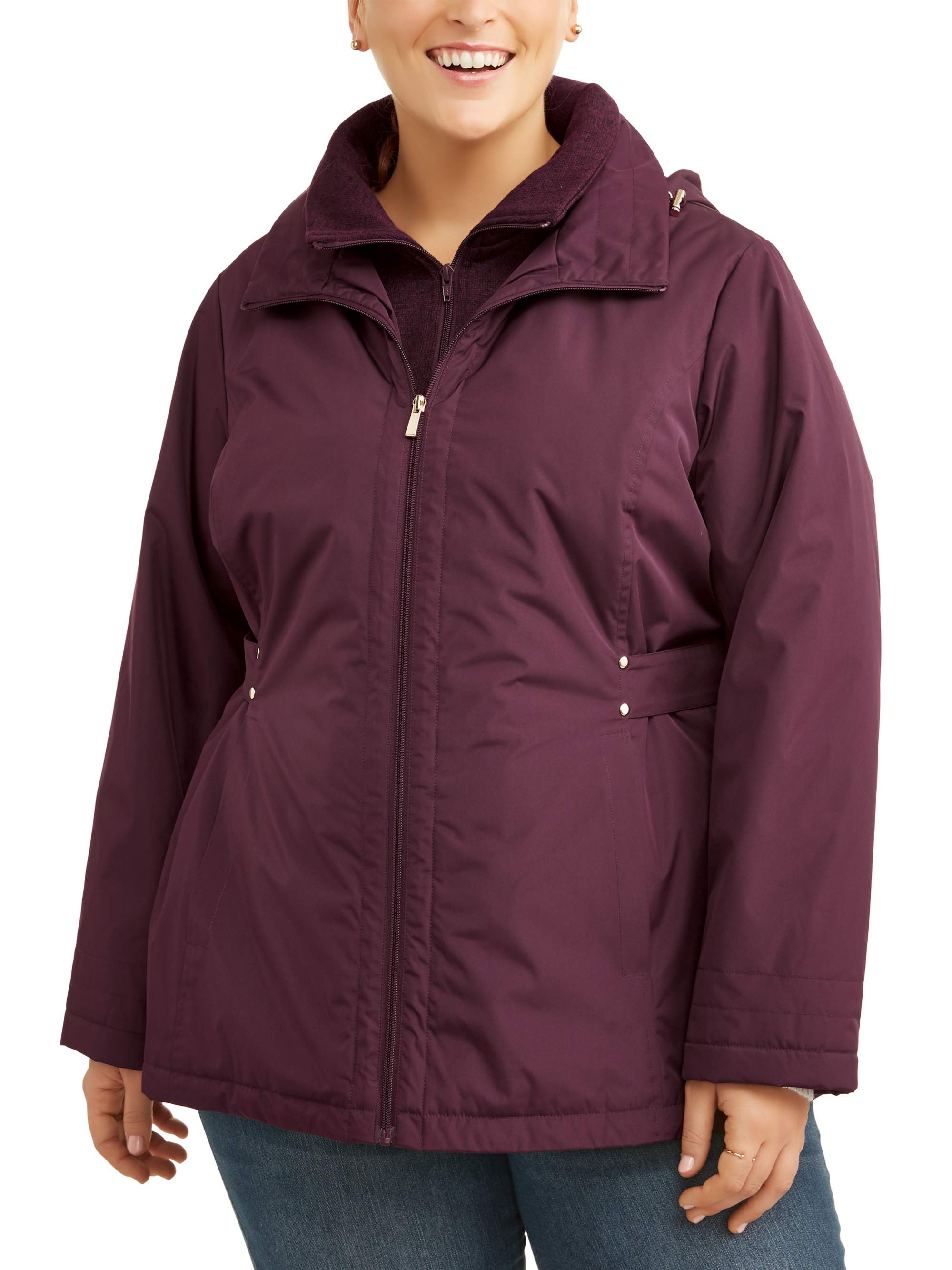 3a46e40cc71 Time and Tru Women s Plus Size Midweight Jacket – Walmart Inventory ...
