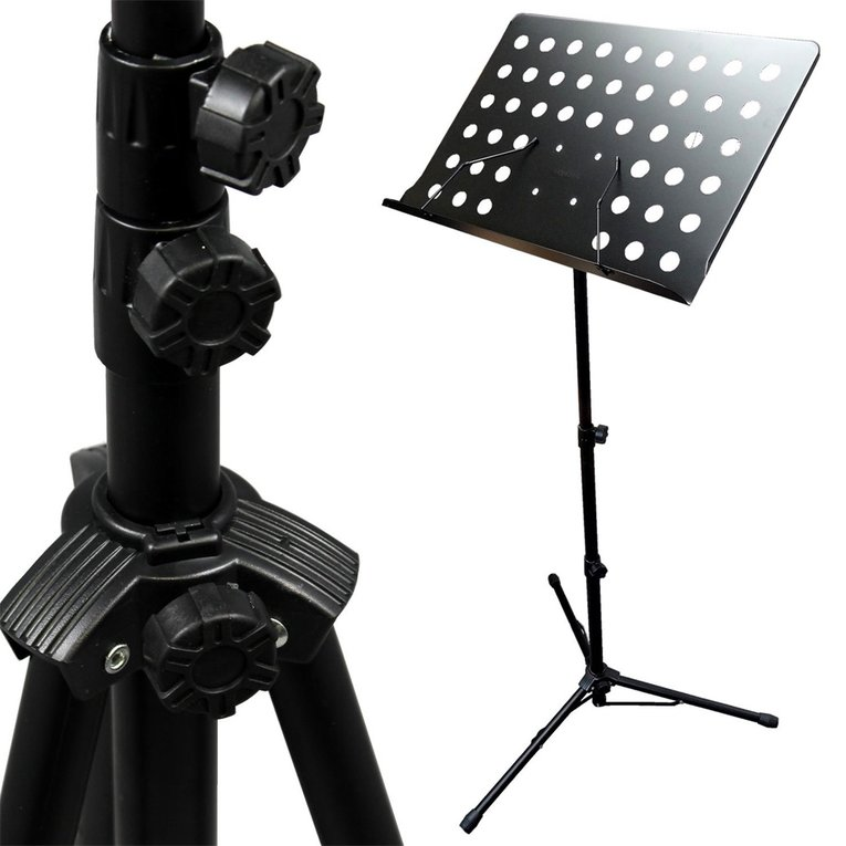 Adjustable Folding SHeet Music Stand Score Holder Mount Tripod by