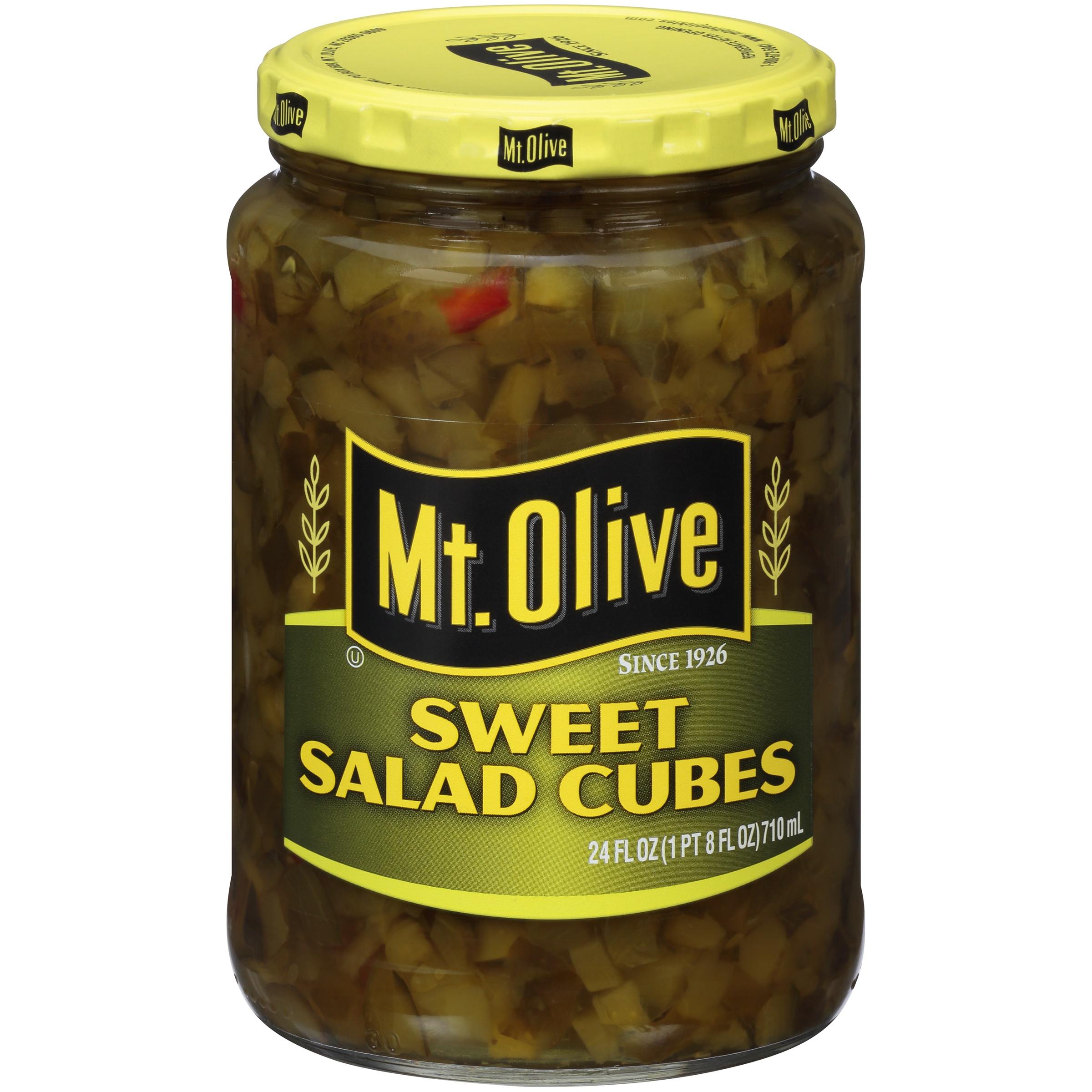 Mt. Olive Sweet Salad Cubes 24 fl. oz. Jar
