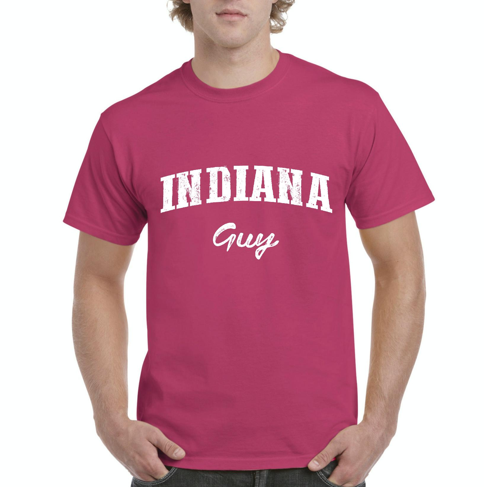 J_H_I IN Guy Indiana Flag Indianapolis Map Home of Hoosiers Indiana University Mens Shirts