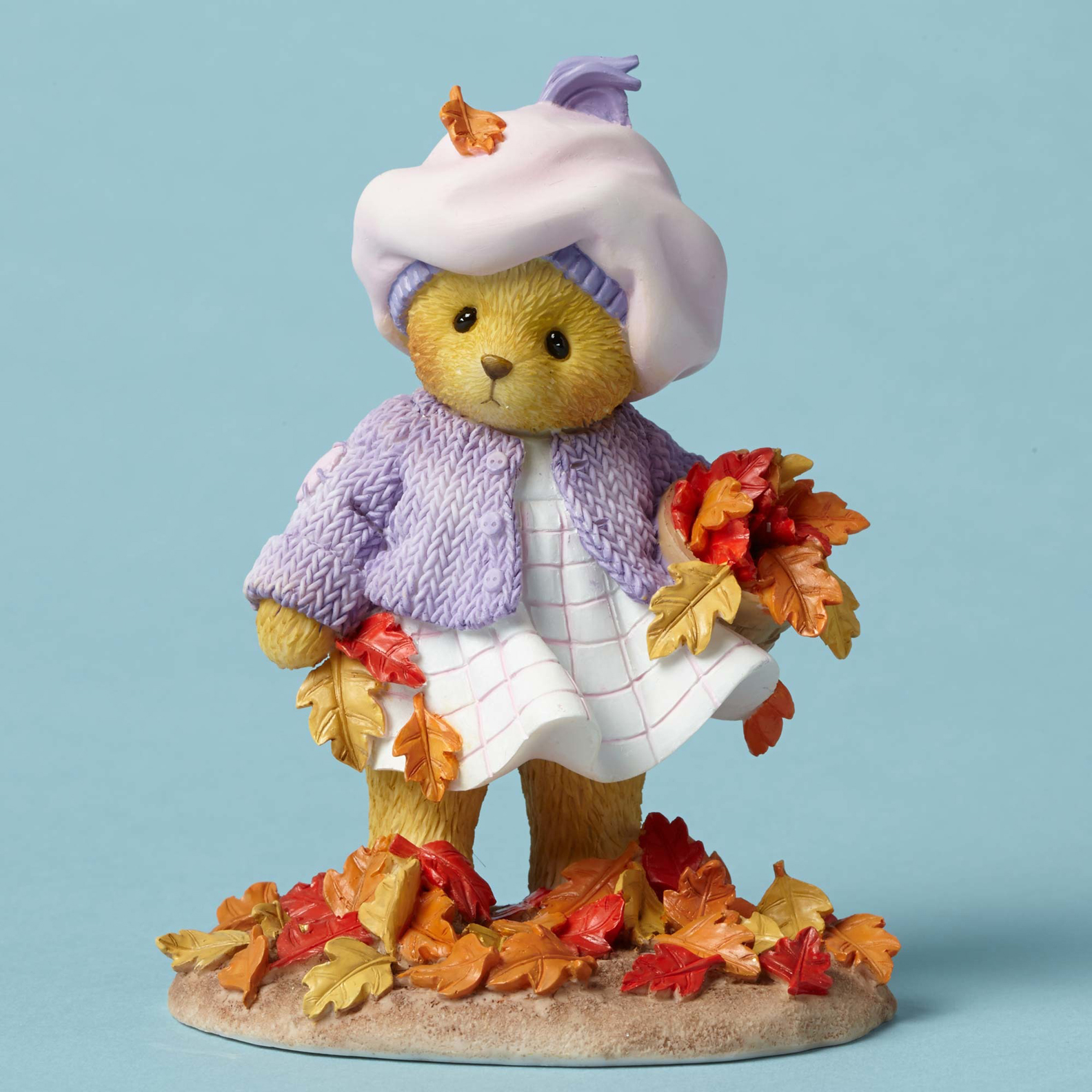 Cherished Teddies 4049731 Bear Picking Up Leaves
