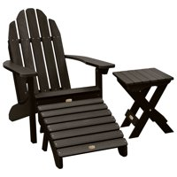 1 Essential Adirondack Chair with 1 Essential Ottoman & 1 Essential Folding Side Table