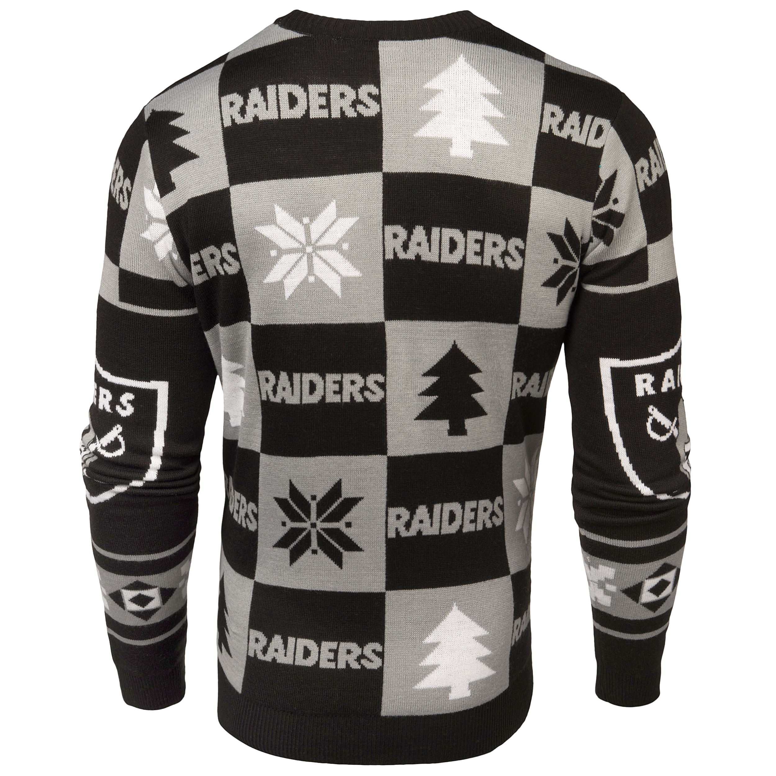 Oakland Raiders NFL Forever Collectibles Black & Gray Knit Patches ...