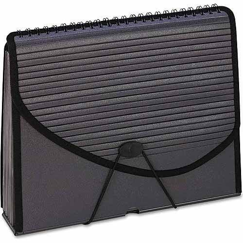 Pendaflex 13-Pocket Expanding Spiral File Folder, Smoke