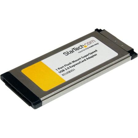 Startech 1-Port Flush Mount ExpressCard SuperSpeed USB 3.0 Card Adapter (Analog Pci Expresscard)
