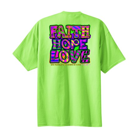 Brown Corduroy Boys Overalls - Christian Neon Youth T-shirt Faith Hope Love