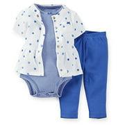 Carter's Baby Girls' 3 Piece Layette Set (Baby) - Blue Dots - Newborn