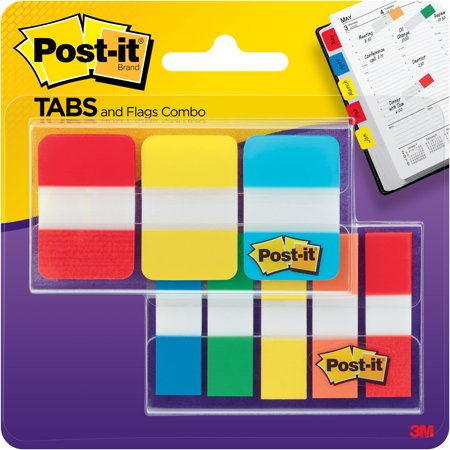 Post-it Flag and Tab Combination Pack (Post Office Hours Omaha)