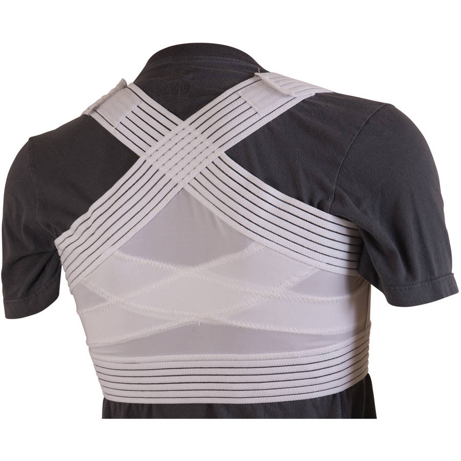 DMI Adjustable Posture Corrector for Men and Women Under Clothes, Clavicle Brace Back Posture Corrector, White, Medium