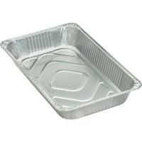 Genuine Joe Full-size Disposable Aluminum Pan, Silver, 50 / Carton (Quantity)