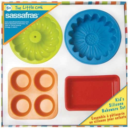 Sassafras The Little Cook Silicone Bakeware (Set of 4)