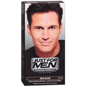 JUST FOR MEN Hair Color H-55 Real Black 1 Each (Pack of 2)
