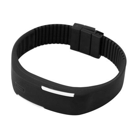 Men Women New Fashion LED Luminous Touch Silicone Bracelet Digital Wrist Watch - image 1 of 8
