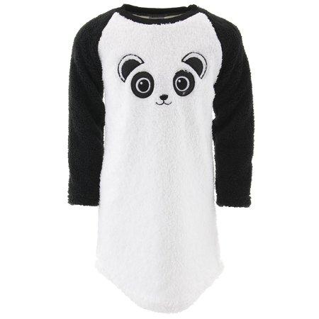 Sweet N Sassy Girls Panda White Sherpa Nightgown](Panda Pajamas)