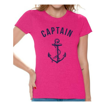 Awkward Styles Sea Tshirt for Ladies Ocean Lovers Gifts Marine Themed Party Cute Gifts for Sailor Captain Clothes for Mom Marine Clothing Collection Captain T Shirt for Ladies Captain Shirt