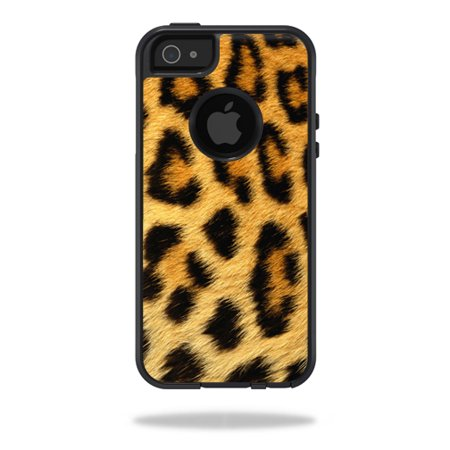Mightyskins Protective Vinyl Skin Decal Cover For Otterbox Commuter Iphone 5 5S Se Case Cell Phone Wrap Sticker Skins Cheetah