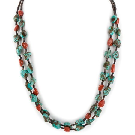 Large $550 Retail Tag 2 Strand Authentic Made by Charlene Little Navajo .925 Sterling Silver Native American