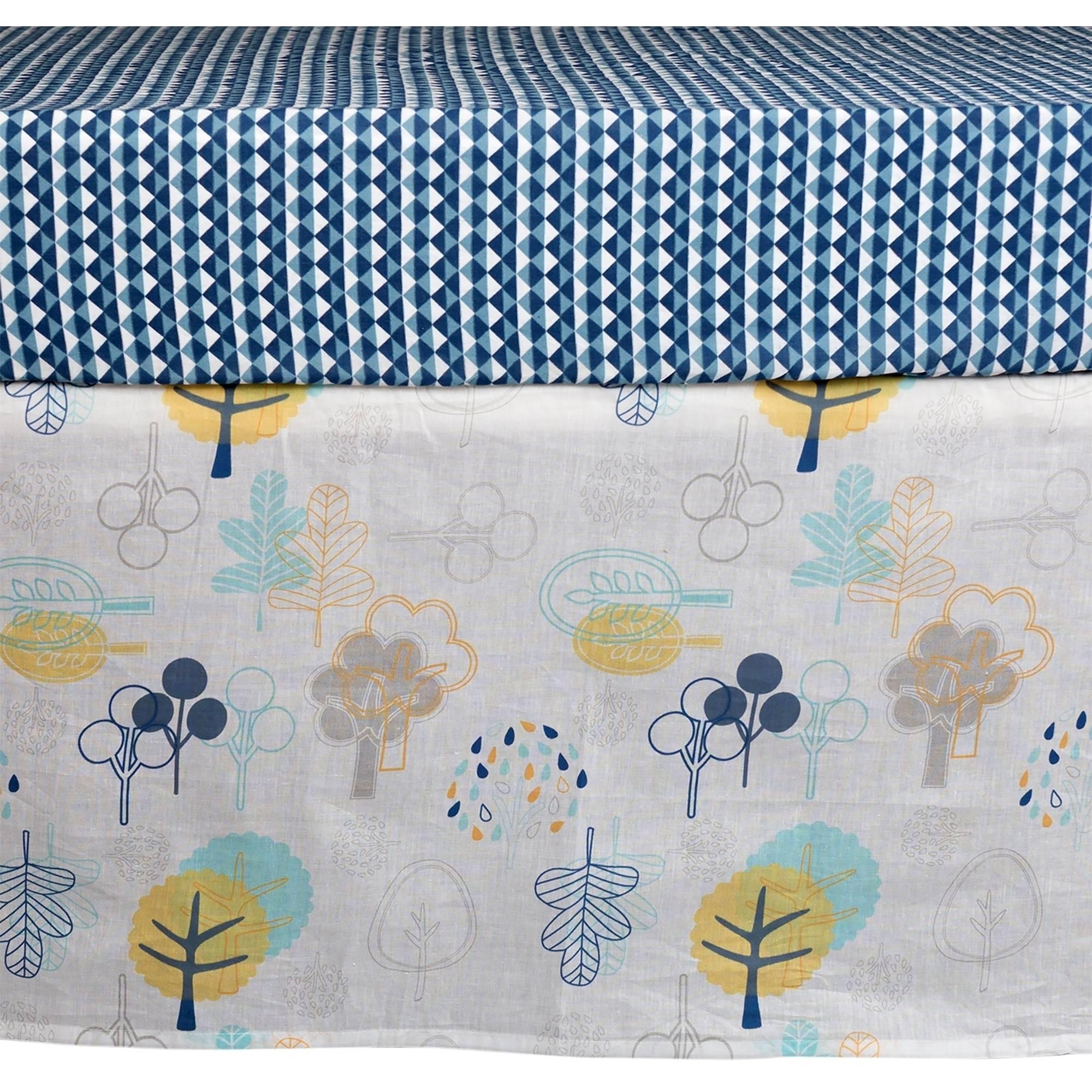 Poppi Living Timberland Premium Cotton Crib Skirt