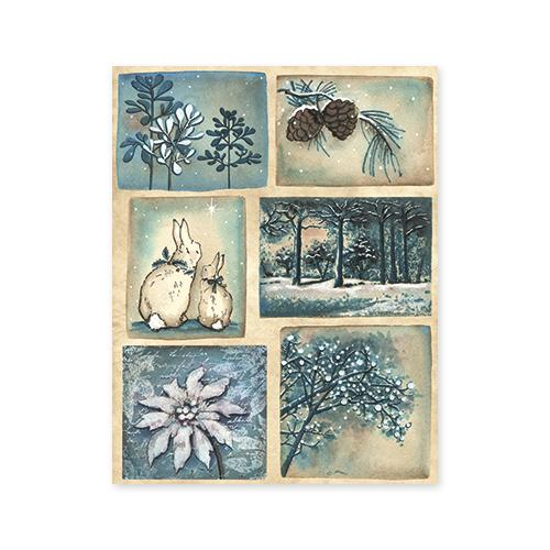 "Penny Black Christmas Sticker Sheet 7""X9""-Starry Night"