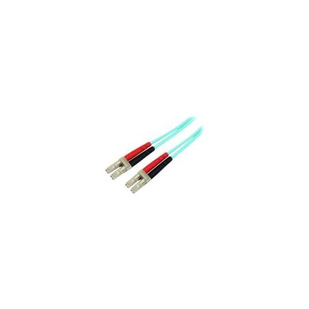 5m Fiber Optic Cable - 10 Gb Aqua - Multimode Duplex 50/125 - LSZH - LC/LC - OM3 - LC to LC Fiber Patch Cable