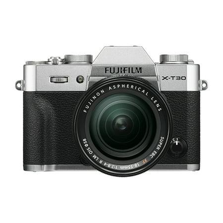 Fujifilm X-T30 Mirrorless Camera with XF 18-55mm f/2.8-4 R LM OIS Lens Kit (Silver)