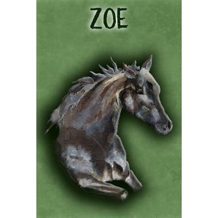 Watercolor Mustang Zoe : College Ruled Composition Book Diary Lined Journal