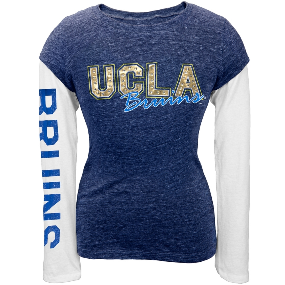 UCLA Bruins - Rhinestone Foil Team Girls Juvy Soft 2fer Long Sleeve T-Shirt