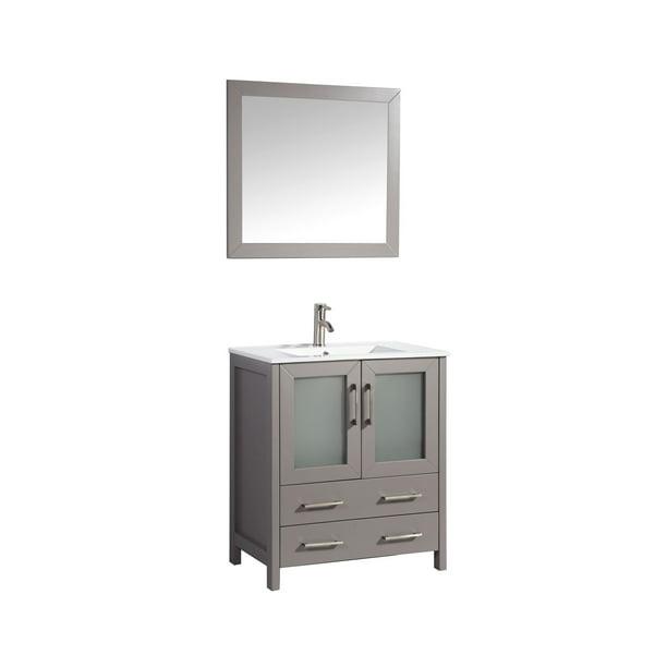 Vanity Art 30 Inch Single Sink Bathroom, 30 White Bathroom Vanity With Top