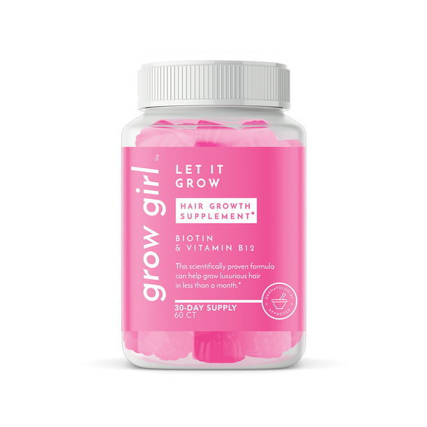 Grow Girl Let It Grow Hair Growth Supplements Biotin Vitamin B12