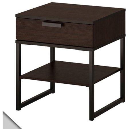 Ikea Block (IKEA - TRYSIL Nightstand, dark brown, black )