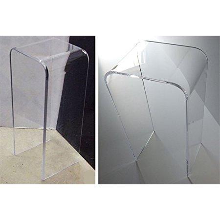 1 2 Quot Clear Acrylic Pedestal End Table 30 Quot High Lucite