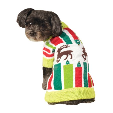 Christmas Sweaters For Dogs.Rubie S Pet Shop Ugly Christmas Sweater For Pets Knitted Reindeer Funny Sm Lg