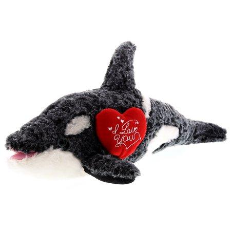 Super Soft Plush Dollibu Killer Whale I Love You Valentines Plush (I Whaley Love You)